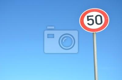 Sticker Verkehrsschild 50