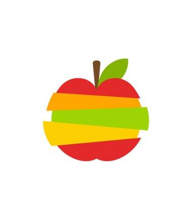 Sticker Verschiedene Arten von Früchten Scheiben gestapelt