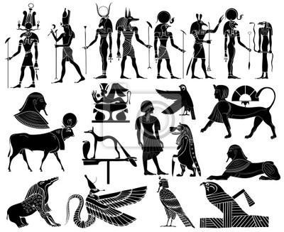 Verschiedene Themen des alten Ägypten