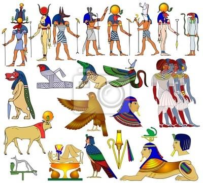 Verschiedene Themen des alten Ägypten - Vektor