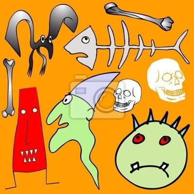 verschiedenen Halloween-Elemente - Vektor
