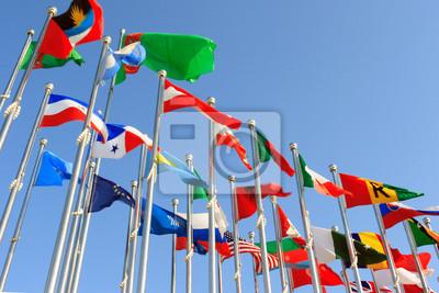 verschiedenen Ländern Fahnen