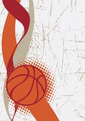 Sticker Vertikale basketball poster.Abstract hintergrund