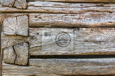 verwitterten Holzwand
