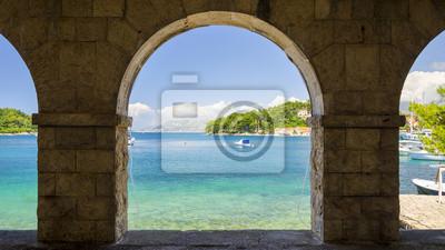 view on Adriatic sea in Cavtat, Dalmatia