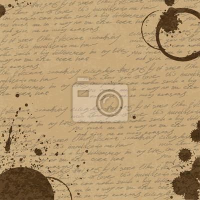 Vintage abstrakte Kaffee-Hintergrund, Vektor, eps10