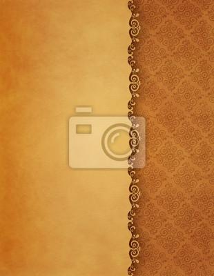 Vintage background, antike Grußkarten, Einladungen Ornamente