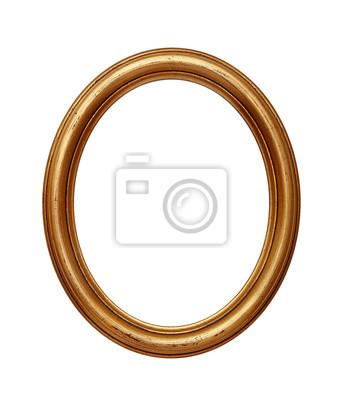 Sticker Vintage goldenen ovalen runden Bilderrahmen