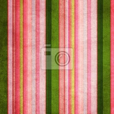 Vintage-grün und rosa farbige schäbig gestreiften Hintergrund