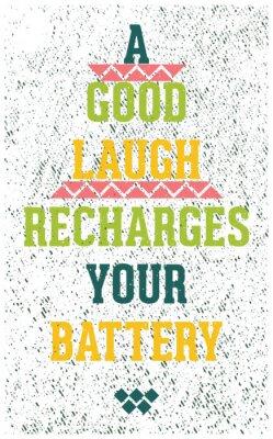 Sticker Vintage Grunge-Motivplakat mit Zitat