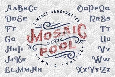 Sticker Vintage handgefertigte Sommer Schriftart