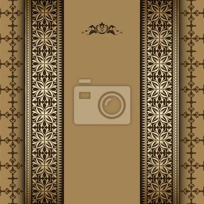 Vintage-Hintergrund, floral gold Ornament Rahmen, Eleganz Stil,