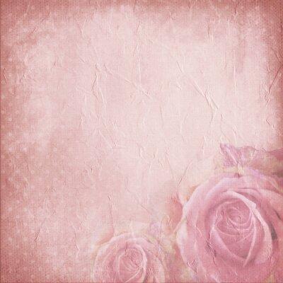 Vintage Hintergrund für die Einladung oder Glückwünsche mit Rosen