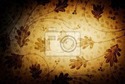 Vintage Hintergrund mit floralen Mustern.