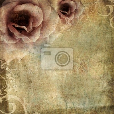 Vintage Hintergrund mit Rosen