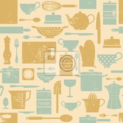 Vintage-Küche-Hintergrund