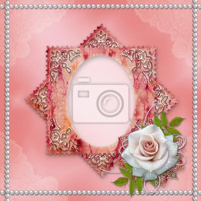Vintage-Rahmen mit Rose