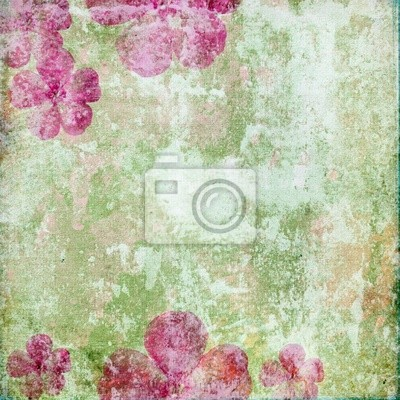 Vintage romantic background with flowers (1 of set)