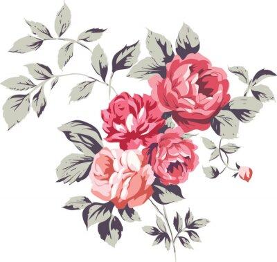 Sticker Vintage rosa Rosen
