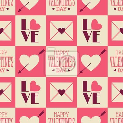 Vintage Valentine nahtlose Muster