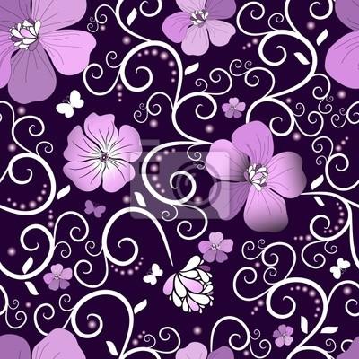 Violet Blumenmuster