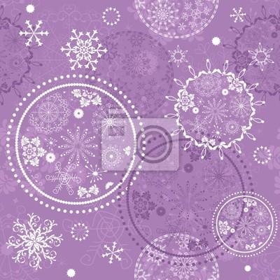 Violet Weihnachten nahtlose Muster