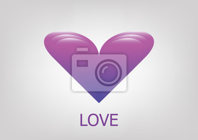 Violette Liebe cuore vettoriale