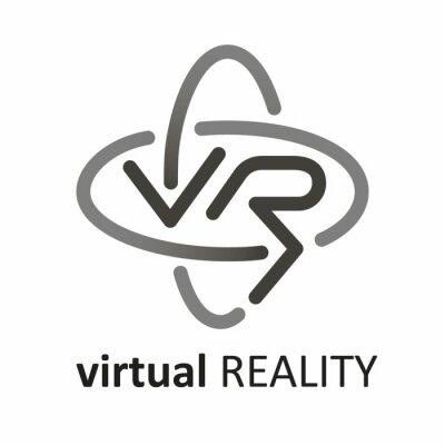 Virtuelle Realität (VR) Logo.