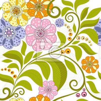 Vivid Blumenmuster
