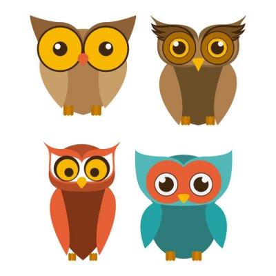 Sticker Vogel-Design, Vektor-Illustration.