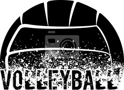 Sticker Volleyball Dark Grunge