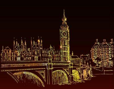 Von Hand gezeichnet Landschaft der Stadt