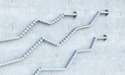 Sticker Wachstum und Fortschritt Konzept