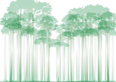 Sticker Wald auf neutralem Hintergrund