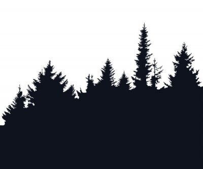 Sticker Wald-Silhouette