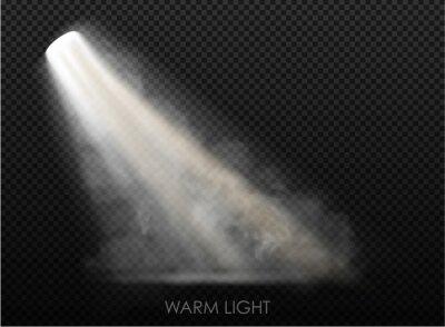 Sticker warm light set of bulb on a transparent background