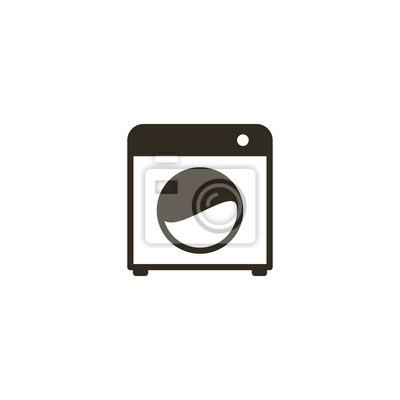 Waschmaschine Symbol Zeichen Design Notebook Sticker Wandsticker