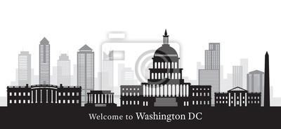 Washington DC, Landmarks, in Black and White