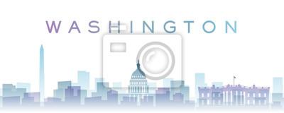Washington Transparent Layers Gradient Landmarks Skyline