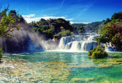 Sticker Wasserfälle Krka