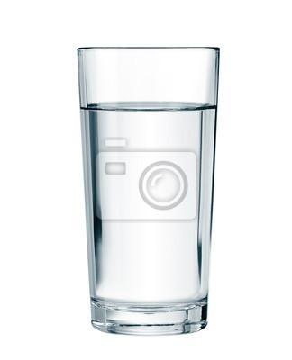 Sticker Wasserglas mit Clipping-Pfad enthalten