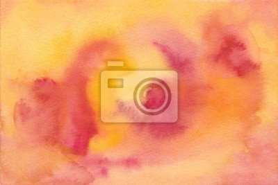 watercolor background texture illustration bright and beautiful red, orange, yellow hand painted