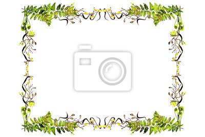 watercolor fern frame