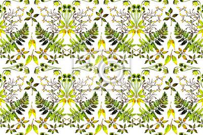 watercolor fern print