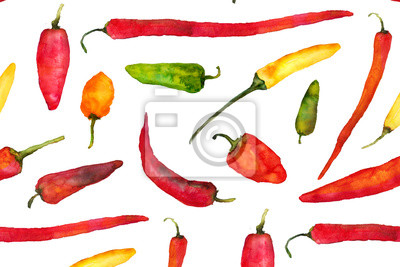 watercolor peppers