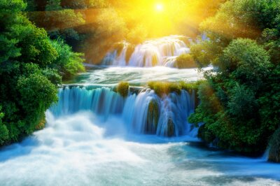Sticker Waterfalls Krka