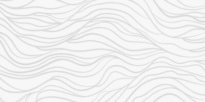 Sticker Wavy background. Monochrome backdrop with curved stripes. Repeating abstract waves. Stripe texture with many lines. Black and white illustration