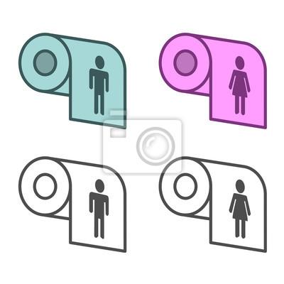 WC Männliche und weibliche Zeichen