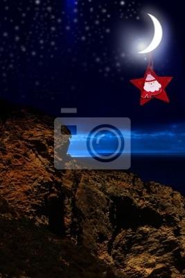 Weihnachten leuchtenden Mond