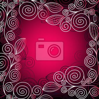 Weihnachten rosa-roten Rahmen